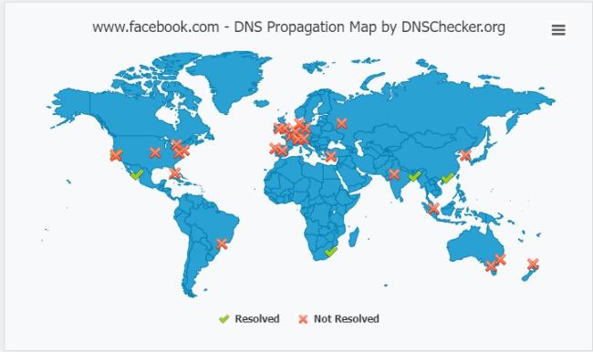 Caída de las DNS de Facebook ?